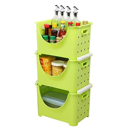 QIQIDEDIAN Wohnzimmer Schlafzimmer Lagerung Küche Finishing Racks Sandwich Home (Color : Green) -