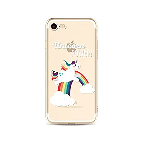 iPhone SE/5/5S MUTOUREN case cover?ultra-thin feel good, 3D transparent Scratch Resistant Crystal Clear Soft Durable shock-absorption phone case-unicorn 18