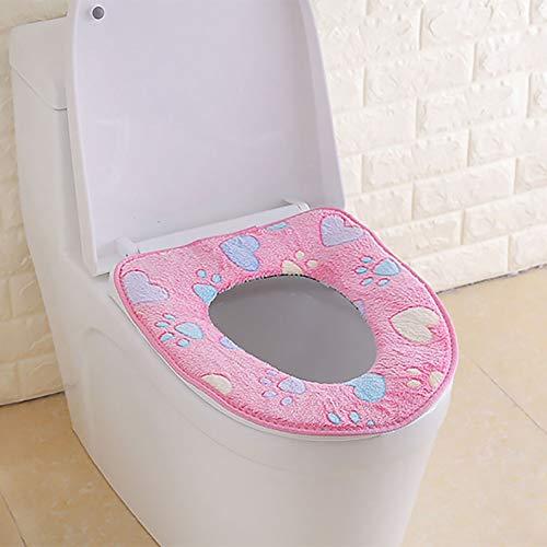 JYPHM Toilettensitzbezug, warm, waschbar, Toilettensitz-Kissen, weich, bequem, für Gesundheit und Badezimmer, WC-Sitz, Deckel Rose (Wc-sitz Längliche Rose)
