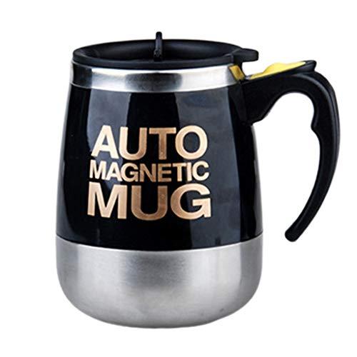 Kafen Kaffeetasse, Edelstahl, magnetisch, Mischbecher für Kakaoprotein mit heißem Tee schwarz