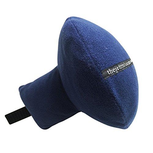 The JetRest® Almohada de viaje para Natural Cabeza y Cuello Apoyo–suave azul marino forro polar, Navy Blue Fleece (azul) - TPFLNA-FBA