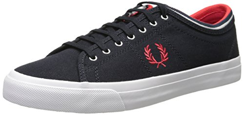 Fred Perry - Kendrick Tipped Cuff, - Uomo Navy Red
