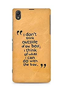 AMEZ i dont think out of the box Back Cover For Sony Xperia Z1 C6902