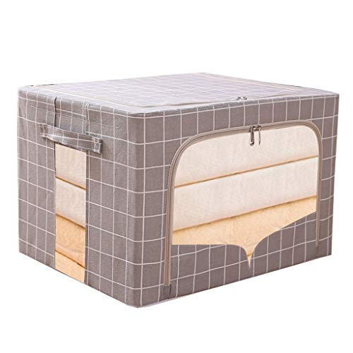 ) Aufbewahrungsbox, Mit Deckel Fenster, Oxford Tuch Stahlrahmen Lagerplätze Zum Decken Kleider,2er-Pack (Farbe : G) ()