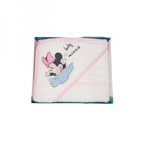 Albornoz Triángulo bebé niña Rizo Minnie Disney Baby Blanco Rosa TU