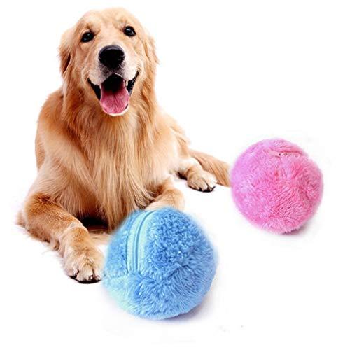 Momorain Haushaltsreiniger Activation Ball Pet Plüschtier Boden Saubere Katze Hund Welpen Spielzeug Automatische Staubsauger (Farbe: Rose & Yellow & Blue & Green) -