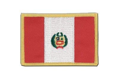 Peru Aufnäher, peruanische Flagge 6x8cm, MaxFlags® - Outdoor-flagge