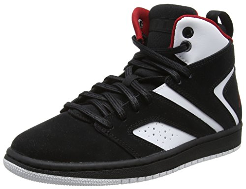 Nike Jungen Jordan Flight Legend BG Basketballschuhe, Mehrfarbig (Black/Gym Red-White 023), 38.5 EU - Flight Nike Basketball-schuhe Herren