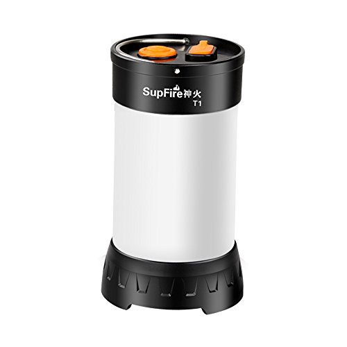 SupFire Camping Laterne LED Mini Licht Super Hell 800 Lumen Wasserfester Leuchte mit Magnetischer Basis und 18650 Batterie Enthalten,Aufgeladen mit USB Kabel Direkt,5 Modi für Camping,Modell T1