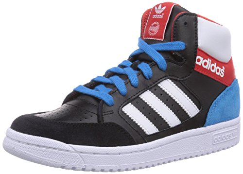 adidas Pro Play, Unisex-Kinder Hohe Sneakers Mehrfarbig (Cblack/Ftwwht/Red)