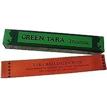 Tara naranja y verde Curación nepalí / incienso tibetano - Pack de 2