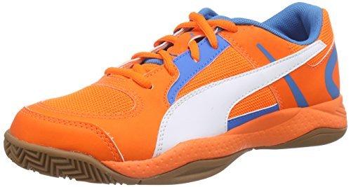 Puma Veloz Indoor II, Chaussures Multisport Indoor mixte adulte - - orange/blau