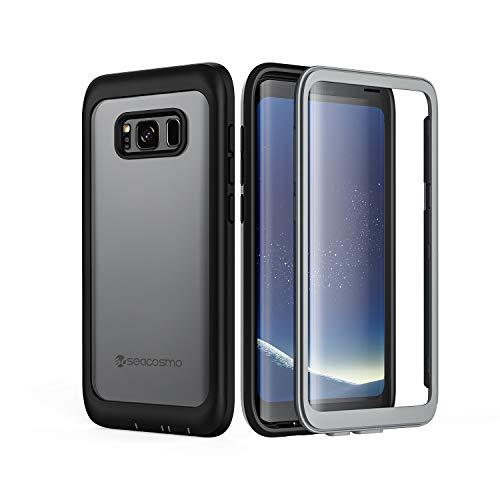 seacosmo Galaxy S8 Hülle, [360 Grad] vollschutz Handyhülle Fallschutz Clear Cover mit integriertem Displayschutz Schutzhülle, Schwarz