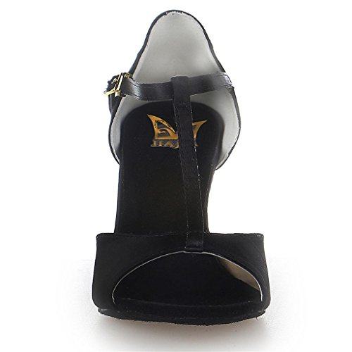 Jia Jia 20511 Chaussures de danse latine satin Noir