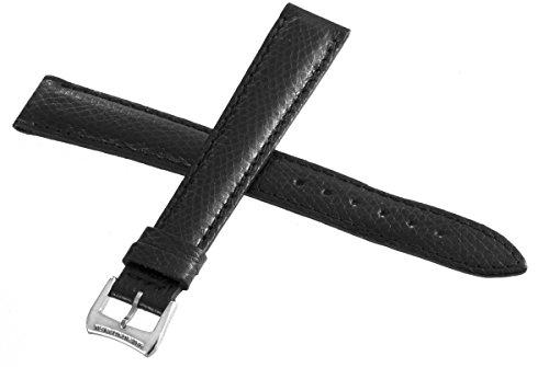 Genuine Raymond Weil Geneve nero pelle Watch cinturino con fibbia argento...