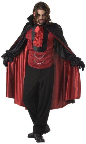 Generique - Prinz der Dunkelheit Vampir-Kostüm rot-schwarz XL (44/46) (Kostüme Der Vampire)