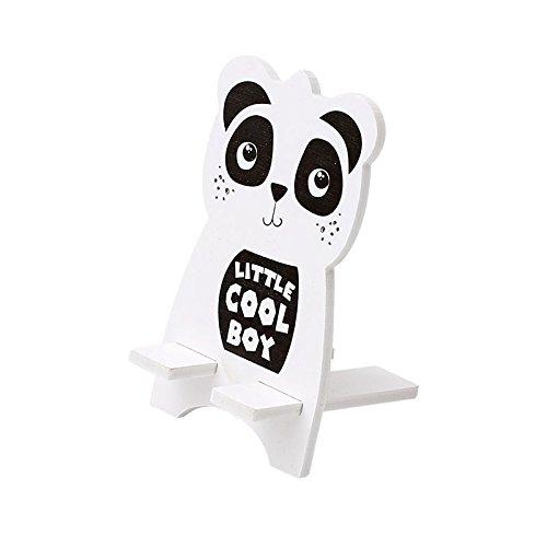 Dosige 1 Pcs Accesorios de teléfono movil Soporte Móvil Sobre la Mesa Soporte para iPad Tabletas iPhone 7/6 Plus/6s/6/SE y Android Smartphone…Color de madera 13.5*8*8.5cm (Panda)