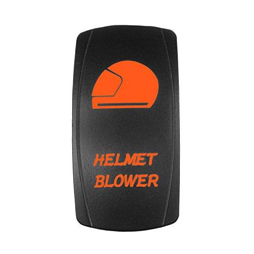 STVMotorsports Laser Backlit Wippschalter Helm Gebläse 20A 12V EIN/Aus-LED-Licht Orange -