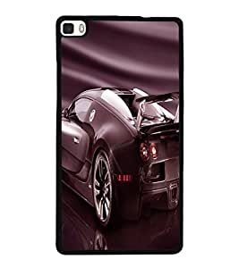 printtech Superfast car Back Case Cover for Huawei P8