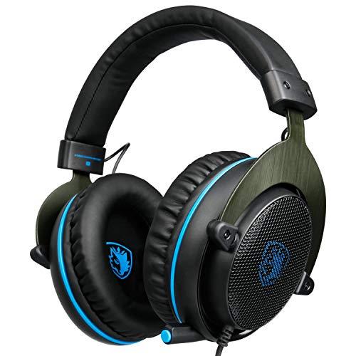 R3 Xbox One Gaming-Headset, Gaming-Kopfhörer für Multiplattform-PS4/Nintendo Switch/PC/Laptop/Mac Computer, rotiertes Mikrofon, Inline-Control/Stereo-Bass/Cam