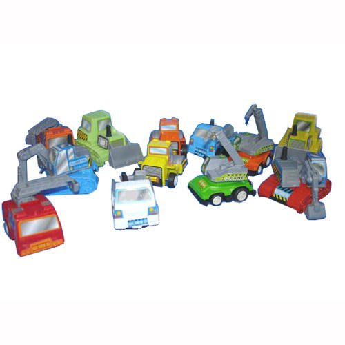 PARTY DISCOUNT Bau-Fahrzeuge, 5-6 cm, 1 Stk. ()