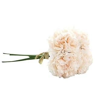 LSAltd Elegante künstliche Seide Blumen Pfingstrose Blumen Hochzeit Bouquet Braut Hydrangea Home Decor (C)