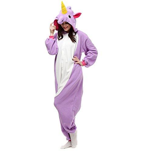 Jumpsuit Einhorn (Size L Fit height: 170CM-180CM, Purple Unicorn)