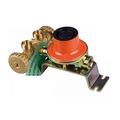 Novacomet Mini centralina gas 7 kg con regolatore di bassa pressione per 2 bombole gpl