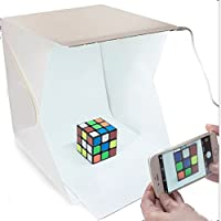 Fotografía De Estudio,4x23x22.6 cm Kit de Tienda Mini Cubo Estudio Foto Difusor Luz Suave Iluminación Caja de Fotografía , con 2 Telones de fondo (negro blanco) para Estudio Foto Video y Fotografía