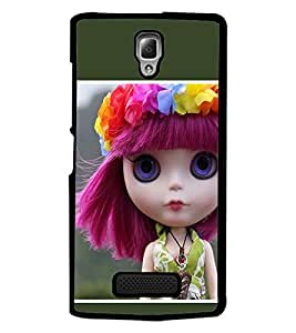 PrintDhaba Blue eyed Doll D-1030 Back Case Cover for LENOVO A2010 (Multi-Coloured)