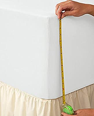 """[PriceBust] EXTRA DEEP FITTED SHEET KING SIZE WHITE 100% EGYPTIAN COTTON 200 THREAD COUNT 200TC 16"""" DEPTH by PB"""