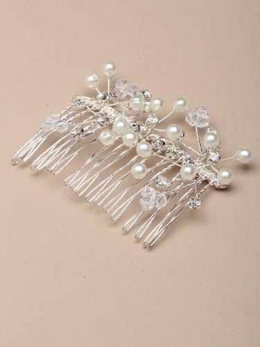 Côté 4441 perles en cristal et perle cheveux Peigne mariée mariage demoiselle d'honneur parti Prom