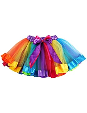 Bebè bambina arcobaleno Bowknot tutu Skirt Dress Pettiskirt gonna, 8m per abiti da battesimo, vestito da ballo...