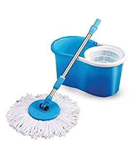 JaipurCrafts Spin mop and bucket for magic 360 degree cleaning (with 2 refills)- Blue