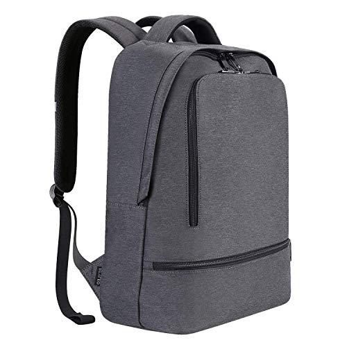 Zaino Per PC, REYLEO RB03 E Laptop Portatile Backpack Casual Impermeabile Unisex Per La Scuola e Il Lavoro Fino a 21L (Grigio)