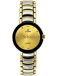 LUCERNE Analogue Gold Designer Dial Silver Gold Metal Casual Gift Watch For Women A Modern Ladies Watch Gifts...