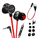 Plextone Wired Noise Cancelling Earbuds Gaming Headphones with Adjustable Mic for PS4, Xbox