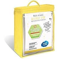 SWEET NIGHT ALLERGOSTOP Protège-Matelas Housse complète 140x190/200 cm - sans Traitement Chimique - Filtre 99,9% des allergènes d'acariens