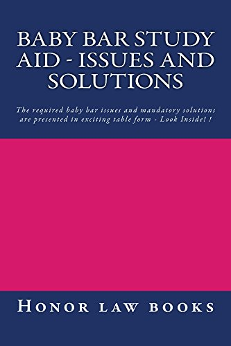 Baby Bar Study Aid - Issues and Solutions: A Jide Obi law book (English Edition)