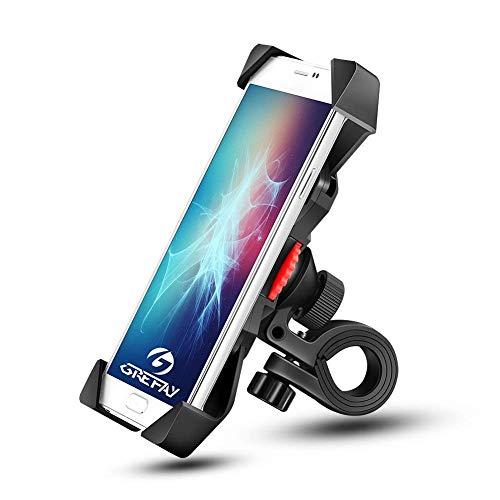Anti-Shake Fahrradhalterung Motorrad Handy-Halter Universal Radsport Verhütung von Abstürzen Fahrrad-Lenker Handyhalter Wiege Klammer mit 360 Drehen für 3,5-6,5 Zoll
