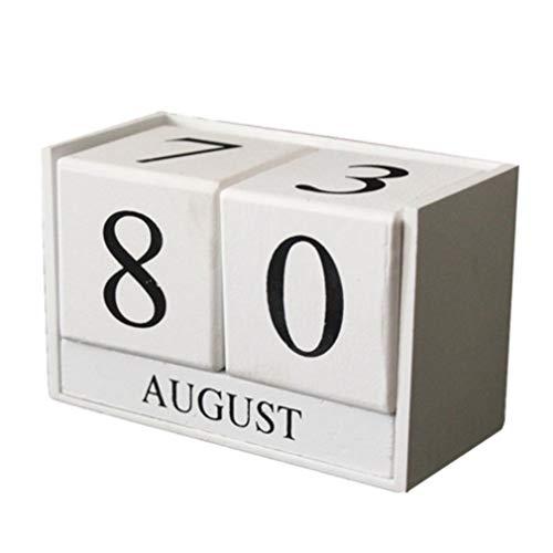 OYQQ Gioielli in Bianco e Nero Calendario in Legno Decorazione Modello in...