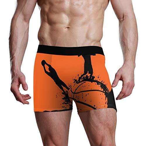 XiangHeFu Herren Boxer Briefs Basketball Spieler Sport Stretch Atmungsaktive Unterhose -