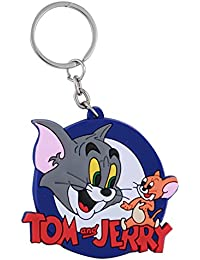 GCT Double Sided Tom And Jerry Cat Mouse Animal Cartoon Movie Character Rubber Keychain | Key Ring For Car Bike...