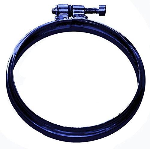 CHIMENEA tubo de la abrazadera de bloqueo 80 mm, chapado en negro grànulos de combustiòn de acero inoxidable.