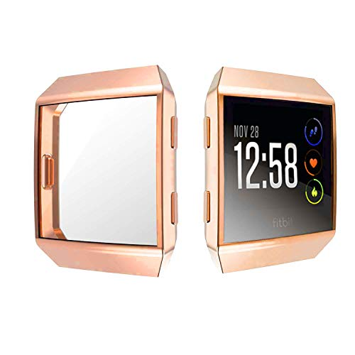 KTcos für Fitbit Ionic Displayschutz, Fitbit Ionic Hülle, TPU Schutzfolie Allround-Schutzhülle High Definition Clear Ultradünne Schutzhülle für Fitbit Ionic Smart Fitness Watch(Roségold)