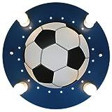 Elobra Deckenleuchte Fußball, dunkelblau / weiß 127766