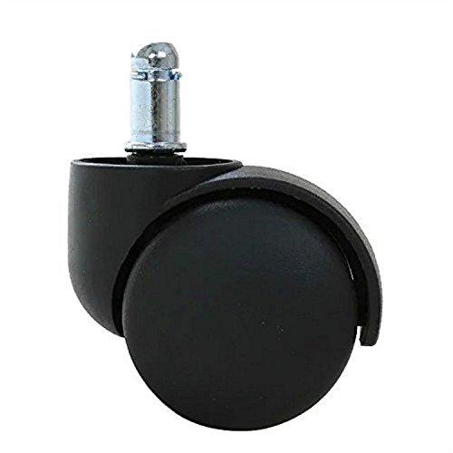 5-er Set Weichbodenrollen 11mm/50mm Stuhlrollen Harte Rollen Für Bürostuhl Drehstühle Schreibtischstuhl Teppich Auslegeware Schwarz (JW-001)