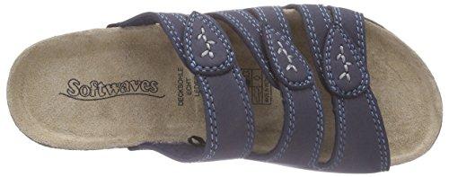 Softwaves 275 015, Mules femme Bleu - Blau (Blue 809)