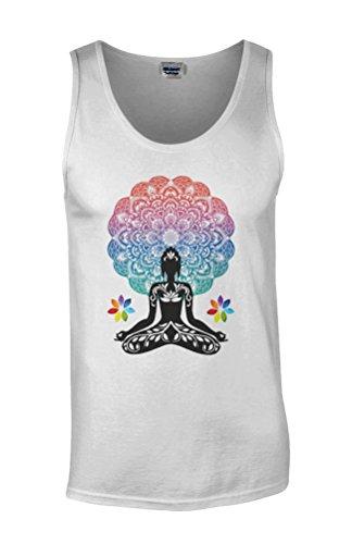 Yoga Buddha Chakra Meditation Zen Hobo Boho Novelty White Men Herren Unterhemd Tank Top Vest Verschiedene (Männer Disney Sexy)