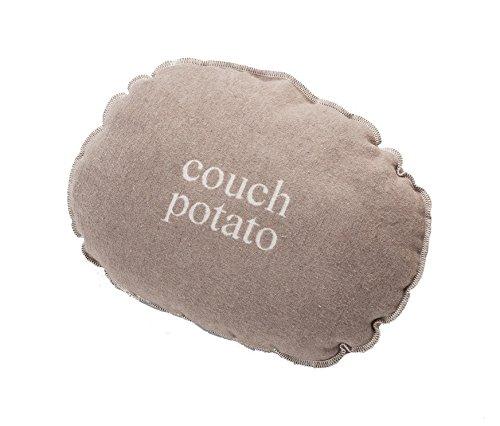 David Fussenegger - Kissen mit Füllung - Couch Potato - oval - Rauch - 50x35cm - 7889/93